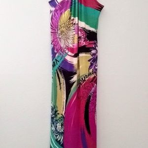 Ultra long silky maxi dress